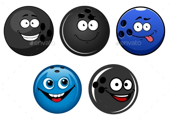 GraphicRiver Bowling Ball Cartoons 10958259
