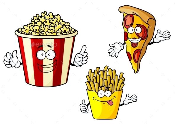 GraphicRiver Junk Food Cartoons 10958262