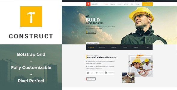 ThemeForest Construct Building & Construction PSD Template 10940437