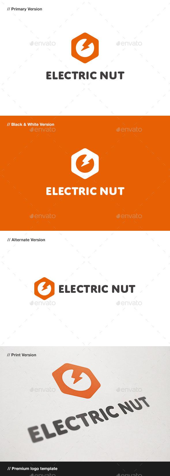 GraphicRiver Electric Nut Logo 10958283