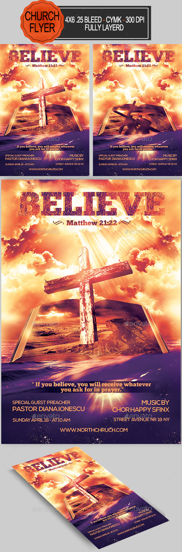 GraphicRiver Believe Church Flyer 10958291