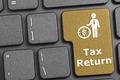 Tax return key on keyboard - PhotoDune Item for Sale