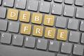 Debt free key on keyboard - PhotoDune Item for Sale