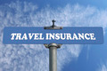 Travel insurance road sign - PhotoDune Item for Sale