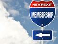 Membership road sign - PhotoDune Item for Sale