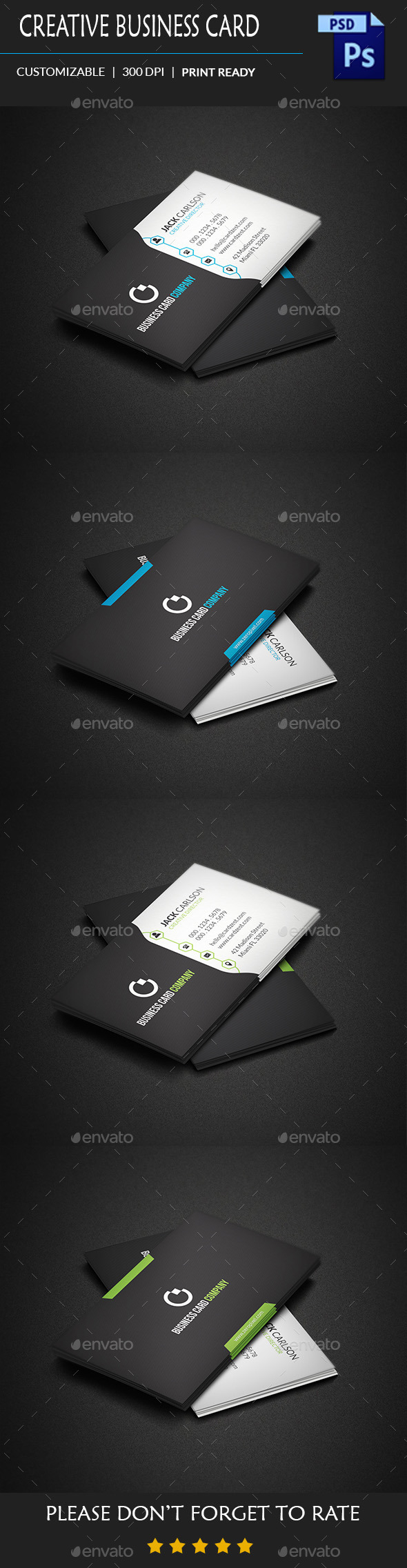 GraphicRiver Creative Business Card Template 10958528
