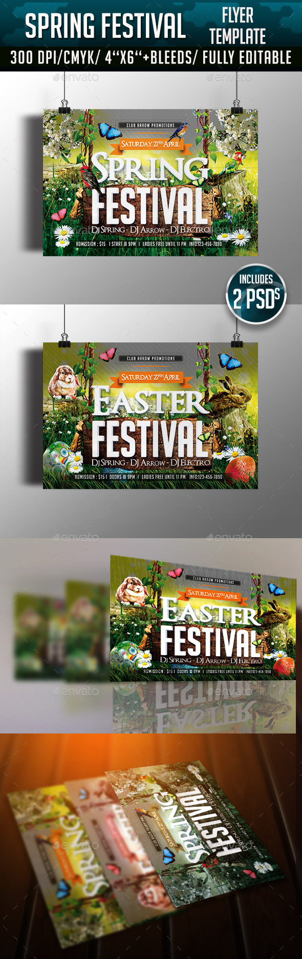 GraphicRiver Spring Easter Festival Flyer Template 10958554