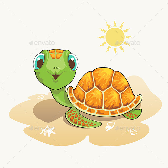 GraphicRiver Turtle Cartoon 10958680