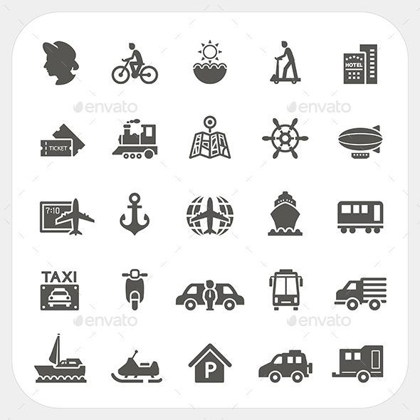 GraphicRiver Transportation Icons 10958703