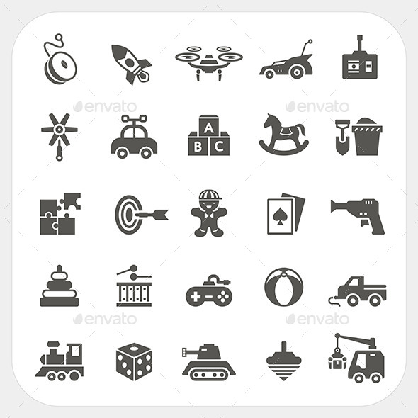 GraphicRiver Toy Icons 10958723