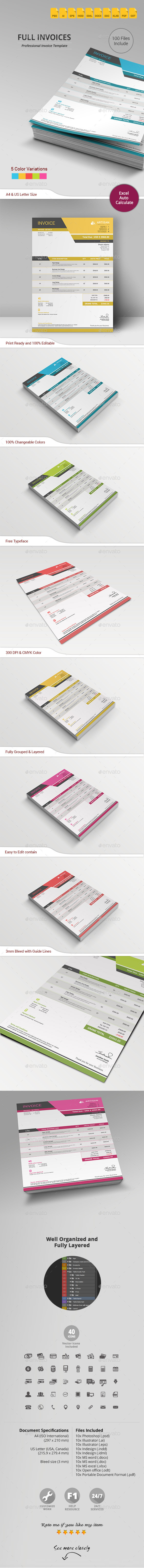 GraphicRiver Invoice 10958726