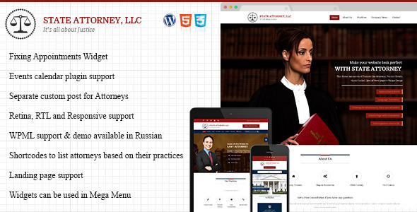 ThemeForest Attorney & Law Lawyers WordPress Template 10959096