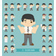 Set of businessman character , eps10 vector format - GraphicRiver Item for Sale