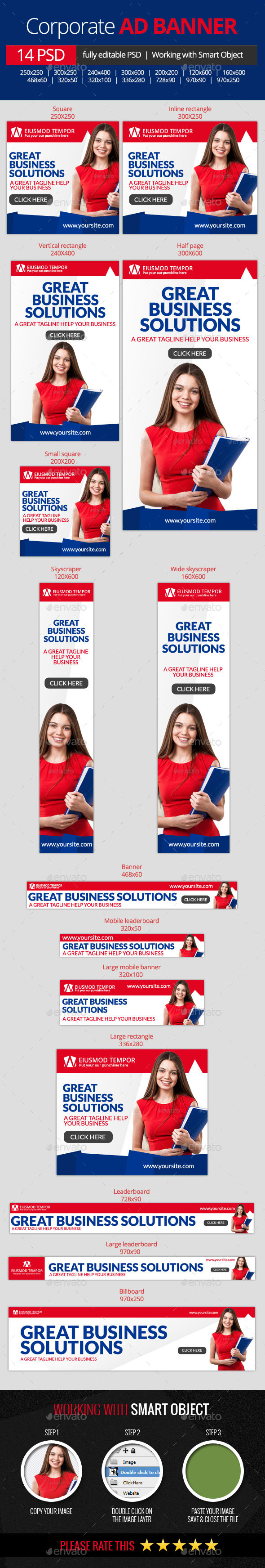 GraphicRiver Business Corporate web banners 10959425