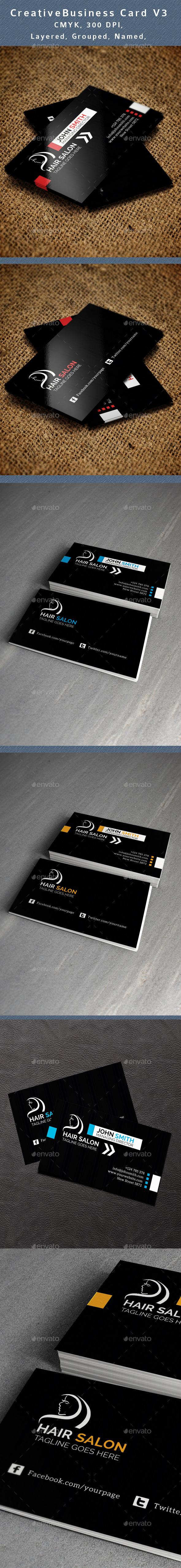 GraphicRiver Hair Salon Business Card V3 10959478