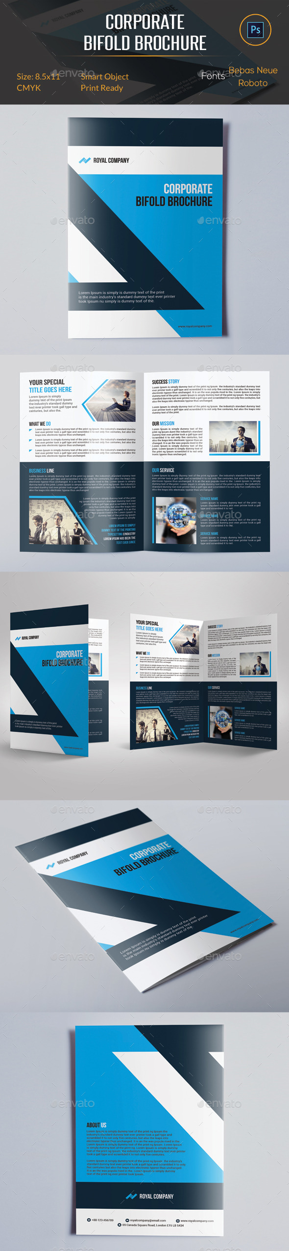 GraphicRiver Corporate Bifold Brochure 10959644