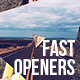 Fast Openers Collection - VideoHive Item for Sale