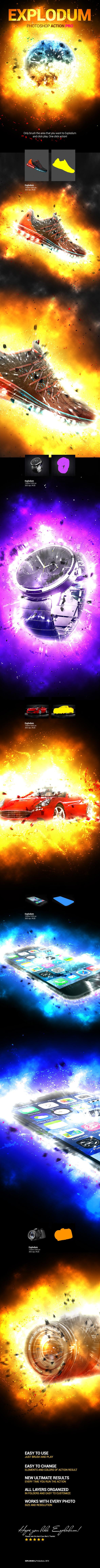 GraphicRiver Explodum PS Action 10916825