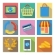 Square Icons for Internet Shopping - GraphicRiver Item for Sale