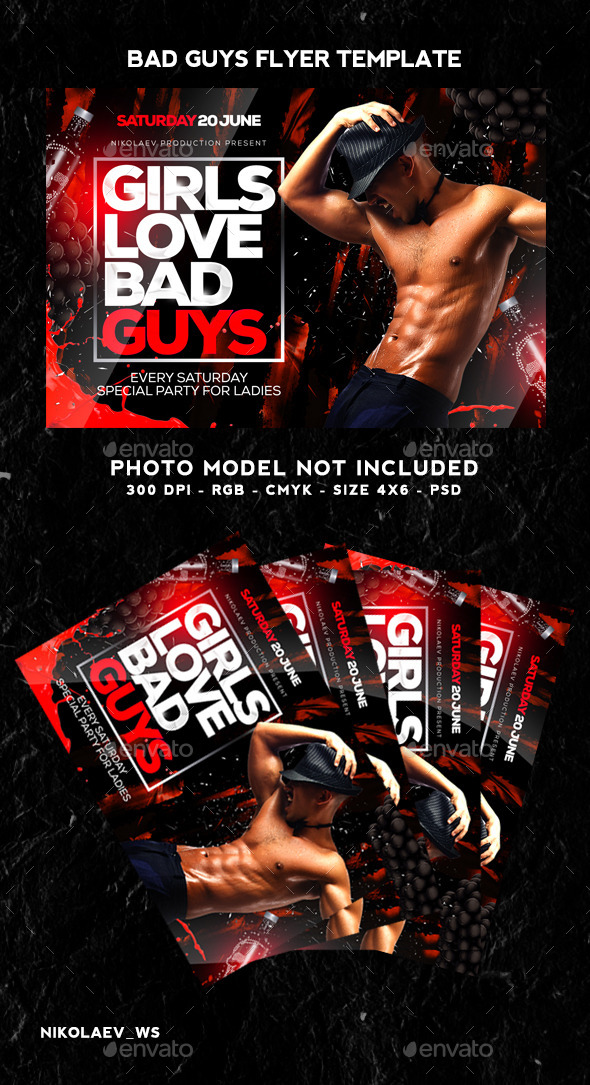 GraphicRiver Bad Guys Flyer 10917326
