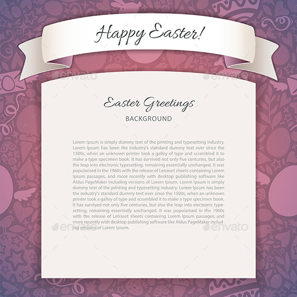 GraphicRiver Happy Easter Poster With Copy Space 10941356