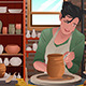 Woman Working Pottery  - GraphicRiver Item for Sale