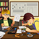 Two Kids Working on an Electronic Project - GraphicRiver Item for Sale