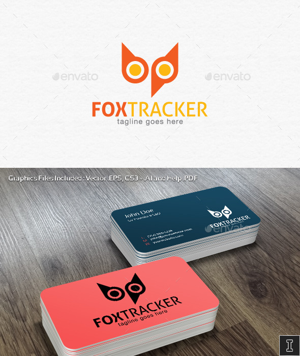 GraphicRiver Fox Tracker Logo Template 10921376