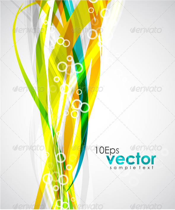 Colorful Wavy Lines - Backgrounds Business