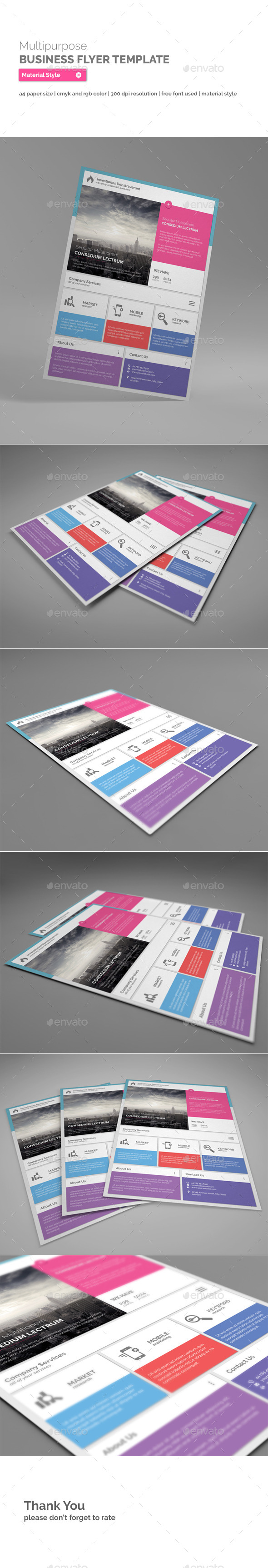 GraphicRiver Multipurpose Business Flyer Material Style 10919983