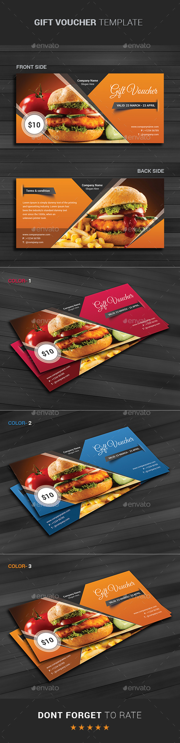 GraphicRiver Modern Gift Card Certificate 10881009