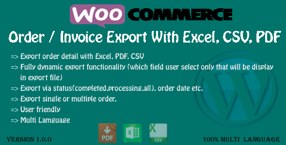CodeCanyon WooCommerce-Order-Export 9602609