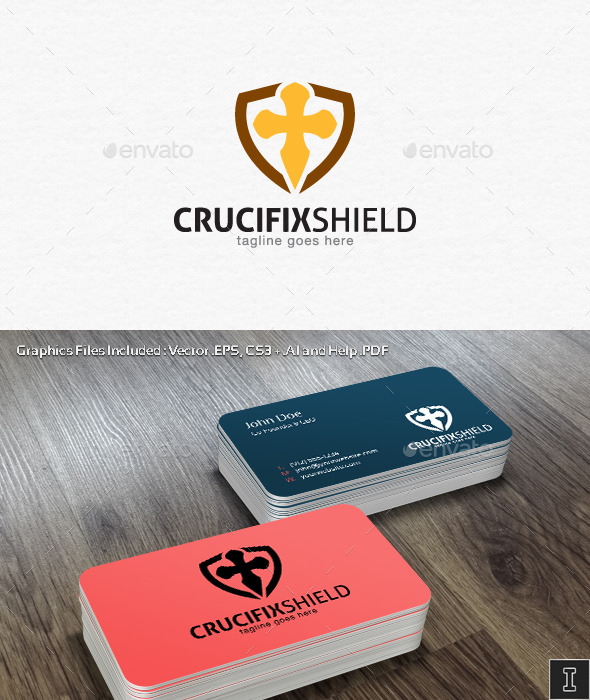 GraphicRiver Crucifix Shield Logo Template 10898561