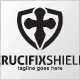 Crucifix Shield Logo Template