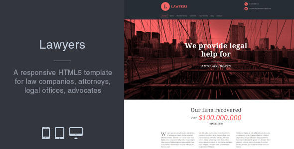 Lawyers - Responsive Business HTML5 Template - Business Corporate