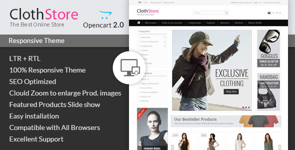 ClothStore - Opencart Responsive Theme - Fashion OpenCart
