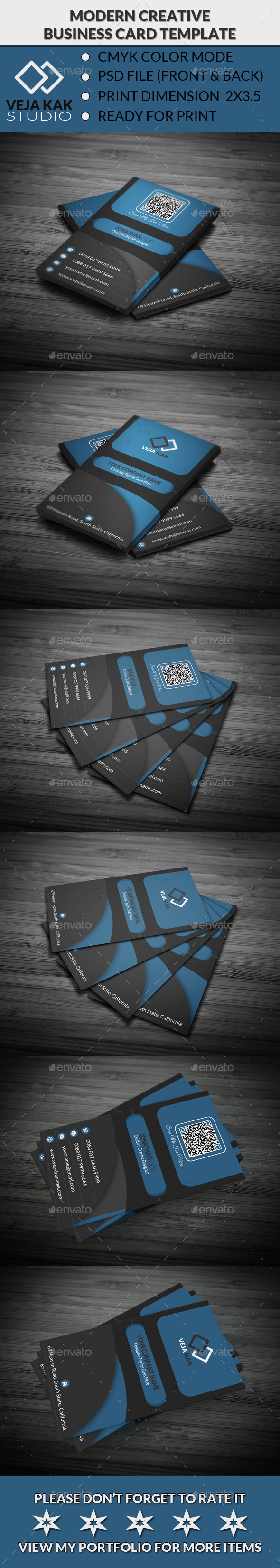 GraphicRiver Modern Creative Business Card 10961599
