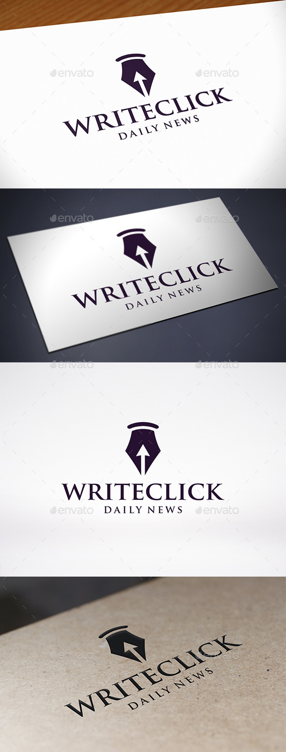 GraphicRiver Pen Click Logo Template 10961607