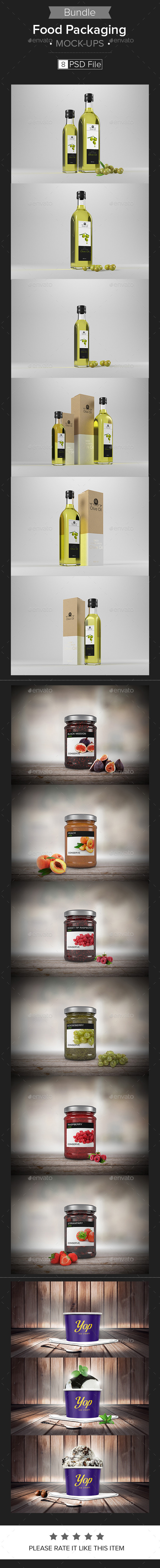 Food Packaging Mock-up Bundle