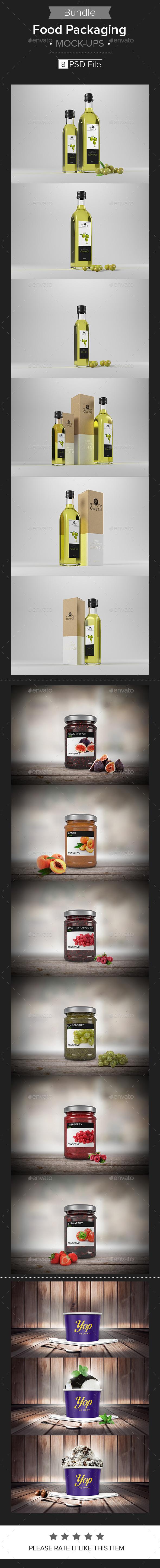 GraphicRiver Food Packaging Mock-up Bundle 10961629