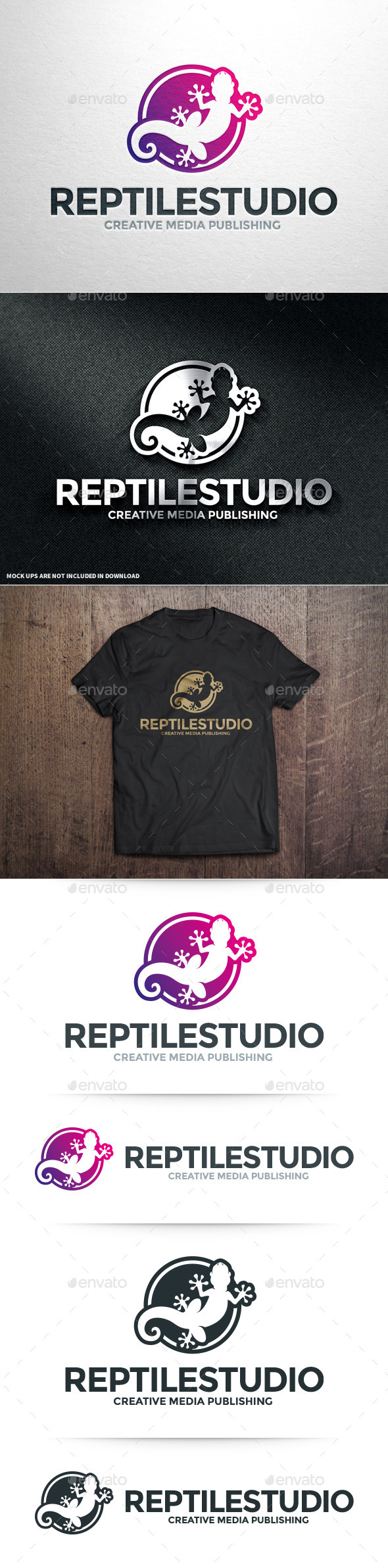 GraphicRiver Reptile Studio Logo Template 10961646