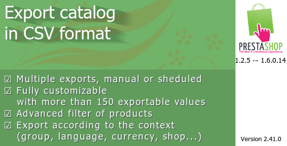 Export catalog in CSV format - CodeCanyon Item for Sale