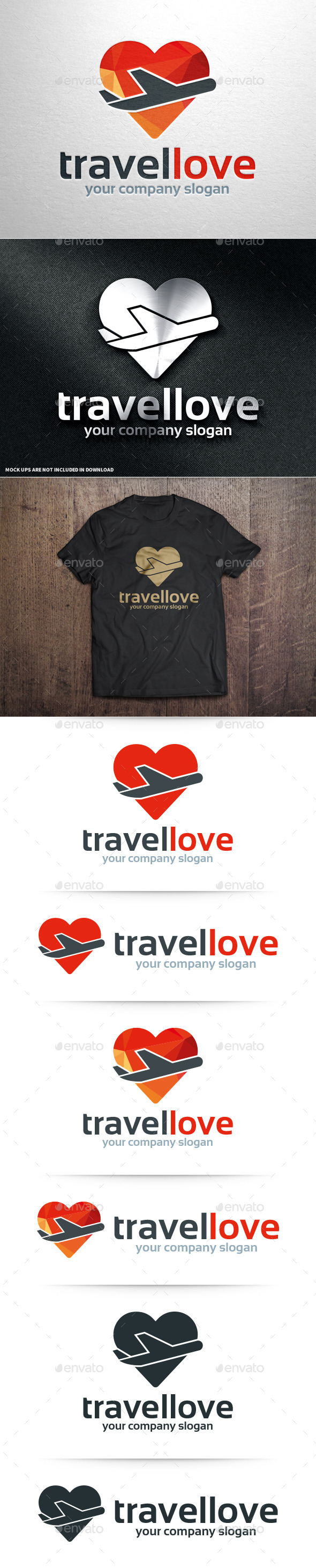 GraphicRiver Travel Love Logo Template 10961734