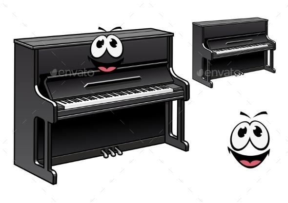 GraphicRiver Piano Cartoon 10961896