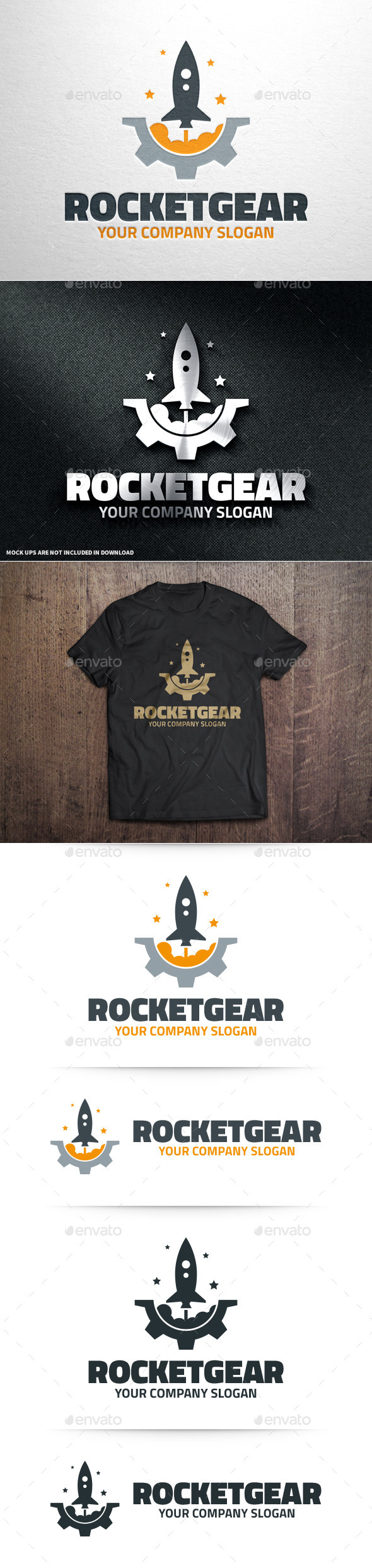 GraphicRiver Rocket Gear Logo Template 10962003