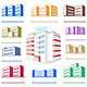Multistoried Building Site Icons Set - GraphicRiver Item for Sale