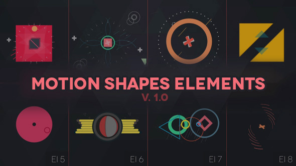 Videohive Motion Shapes - Animated Elements 10820198
