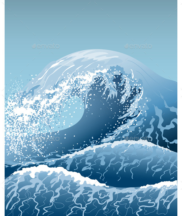 GraphicRiver Blue Waves 10962042