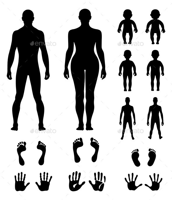 GraphicRiver Human Silhouette Set 10962053