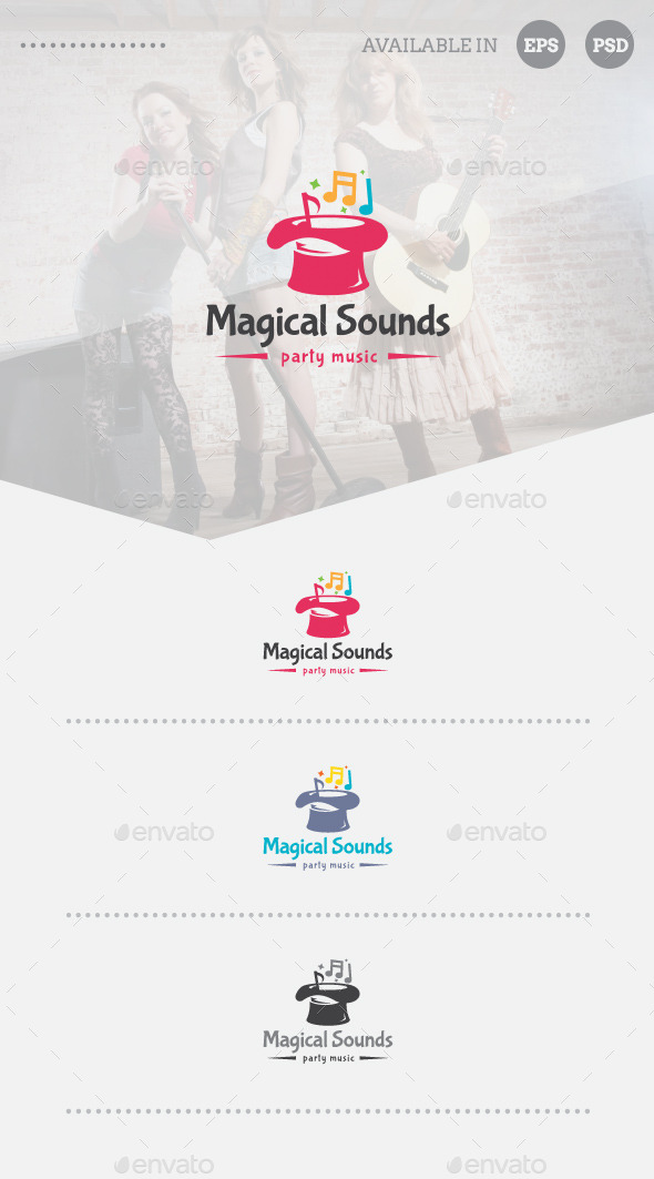 GraphicRiver Magical Sounds Logo Template 10962056